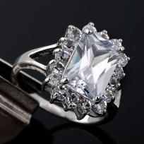 Clear White Topaz Crystal ring   this is the only one! 2 photon gifts with purchase