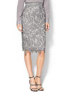 soft pastel pencil skirt