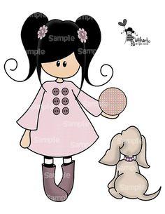 Puppy with ball Nina dolls