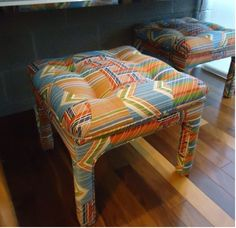 I wonder if I could upholster a stool like this.