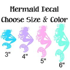A personal favorite from my Etsy shop https://www.etsy.com/listing/277036814/mermaid-decal-vinyl-decal-yeti-decal-car