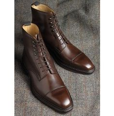 Handmade Men Brown Lace Up Ankle Leather Boots, Mens Boot, Leather Boot Men Leather Ankle Boots, Leather Men, Calf Leather, Soft Leather, Brown Leather, Dress With Boots, Dress Shoes, Finsbury Shoes, Style Masculin