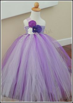 Purple Flower Girl Dress Flower Girl Tutu by Gurliglam, $105.00