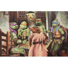 a cultura pop invade as pinturas clássicas Painting Prints, Art Prints, Art Paintings, Canvas Wall Art, Canvas Prints, Classical Art, Cultura Pop, Teenage Mutant Ninja Turtles, Sharpie