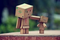 small cardboard people :)