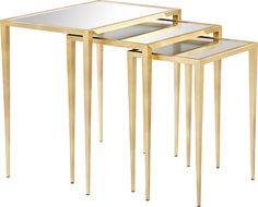 Kassandra Mirrored Nesting Tables in Gold