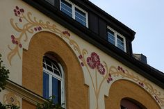 München / Munich / Bavaria: Jugendstil (art nouveau) architecture in the Bogenhausen quarter