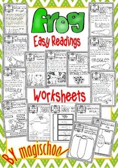FROG ( READY TO PRINT EASY READINGS AND WORKSHEETS) - TeachersPayTeachers.com