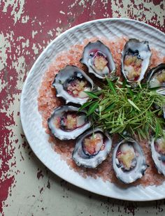 Make lime + vodka infused oysters with this recipe.