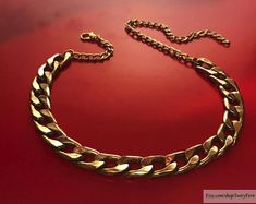 DETAILS: ░ Thick golden chain, thick chain, golden chain, 1990s trend chain, thick chain choker, chain choker, golden choker, 1990s trend choker, thick chain necklace, chain necklace, golden necklace, 1990s trend necklace ░ Golden color lobster clasp  !!! Please be careful when ordering!
