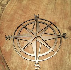 "24"" Bare Metal natutical compass wall decor home decor wall art room decor custom metal sign indoor outdoor"