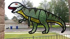 Stained glass tyranasaurus rex