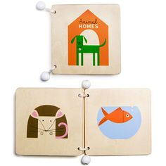Wooden Book Animal Homes