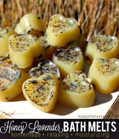 Homemade Honey Lavender Stress Relief Bath Melts Recipe  Have to do this