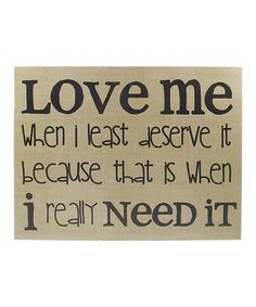 'Love Me' Wall Sign
