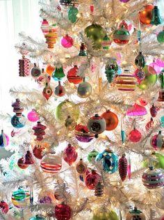 White Christmas trees...