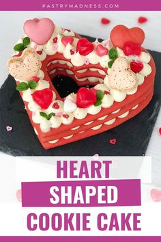 Soft honey cookie layers filled with white chocolate Mascarpone frosting and strawberry filling will make a memorable dessert on Valentine's Day. Powdered Food Coloring, Gel Food Coloring, Heart Shaped Cookies, Heart Cookies, Honey Cookies, Cake Carrier, Creamed Honey, Strawberry Filling, Fruit Jam
