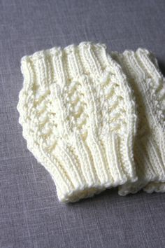 Ravelry: Lacy Stitch Boot Cuff by Hilary Frazier