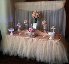 Blush & Champagne Candy Buffet - C and C Candy Buffets Pittsburgh PA