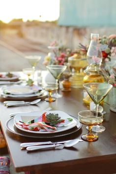 Abby Mitchell Event Styling - southwest inspired eclectic table setting
