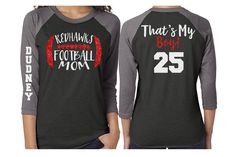 Glitter Mom Football Baseball Shirt|3/4 Sleeve Raglan |Customize with your Team & Colors by GavinsAllyeDesigns on Etsy