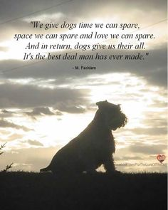 Dogs do give us their all! And we love them for it :)