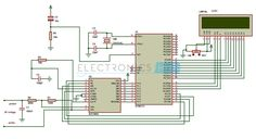 This is a simple digital voltmeter circuit diagram using 8051 microcontroller. We can also call it as analog to digital converter. It's range is 0V to 5V.