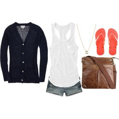 nautical and casual, created by ebraden17 on Polyvore
