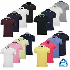 Mens polo t-shirt brave soul  cotton #short #sleeve top #tipped new s m l xl xxl ,  View more on the LINK: 	http://www.zeppy.io/product/gb/2/271907863086/