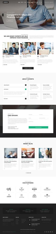 Experts is a stunning, professional and flexible Financial Business WordPress #Theme based on Strong #researches into the field of business, finance and #consulting.