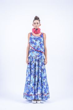 Romani Design, ss17, wanderers of the worlds, roma, gypsy, stripes, striped, floral, print, rose, roses, fashion, flower, flowers, outfit, spring, summer, dress, maxi, asymmetry, asymmetrical, top, ruffles, ruffle Hungary, Ruffles, Gypsy, Roman, Women Wear, Spring Summer, Stripes, Summer Dresses, Flowers
