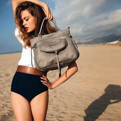 Fancy - Stone Nova Satchel by Lancaster  Perfect outfit with perfect bag