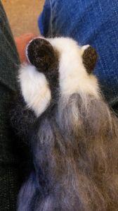 How to needle felt long animal fur (1)
