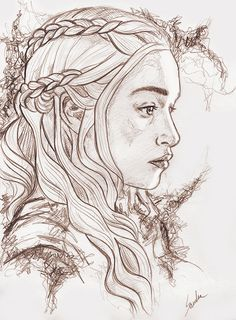 Daenerys Targaryen by littleunnie on DeviantArt - Daenerys Targaryen by littleu. - Daenerys Targaryen by littleunnie on DeviantArt – Daenerys Targaryen by littleunnie – - Game Of Thrones Drawings, Dessin Game Of Thrones, Game Of Thrones Tattoo, Game Of Thrones Art, Cool Art Drawings, Art Drawings Sketches, Daenerys Targaryen Art, Portrait Au Crayon, Desenho Tattoo