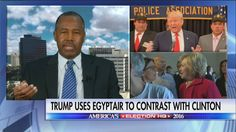 "Dr. Ben Carson reacts to Hillary Clinton saying Donald J. Trump is not qualified to be president.  ""Here is an individual who doesn't have enough judgment to know not to put secret information on a private server and she's talking about somebody else who isn't qualified?"""