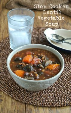 Slow Cooker Lentil Vegetable Soup is, to say the least, easy and a flavorfully herbed dinner. You just throw in the ingredients and get a fantastic meal.