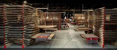 Messestand des Girsberger Massivholzhandels bei der Messe Holz 19 in Basel - Standdesign Holz ist Trumpf!
