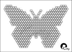 """Gallery.ru / Схема к кольцу """"Бабочка"""" (не раскрашенная) - Авторские (самодельные ;) ) схемы. - Kotty"""