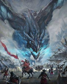 Viserion dragon from Game of Thrones by artist and illustrator Mumu Mei Dark Fantasy Art, Fantasy Artwork, Fantasy Kunst, Fantasy Concept Art, Digital Art Fantasy, Dragon Medieval, Medieval Fantasy, Ice Dragon, Dragon Rpg