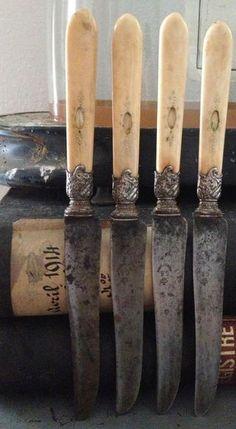 French bone & silver knives