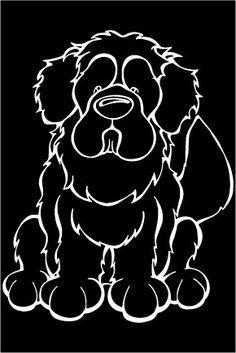 Newfoundland Decal Dog