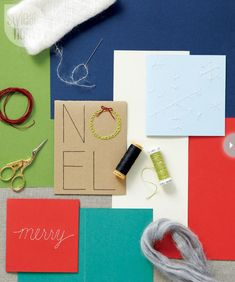 Holiday crafts: Hand-sewn Christmas cards