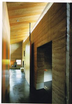 Rammed earth inside - rick joy