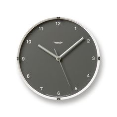 North Mini Wall Clock in Grey design by Lemnos