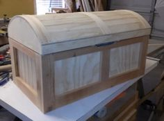 9 Free DIY Toy Box Plans That The Children In Your Life Will Love: Pirate's Chest Toy Box Plan at Chief's Shop