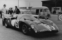 1971 Le Mans 24h, pesage, Racing Team VDS with the Lola T70 Mk.3B GT # SL76/146 nr5 (Pilette-Gosselin) dnf . ©Archives ACO . # Inside The Motorsport Paddock #