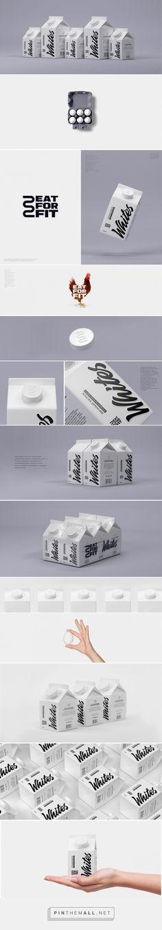 Eat For Fit Egg Whites packaging design by Erikmusin X Timofey Popandopulo - http://www.packagingoftheworld.com/2017/04/eat-for-fit-egg-project.html