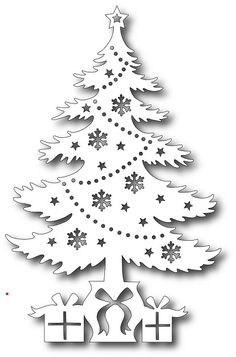 Tutti Designs - Cutting Die - Gifts Under The Tree Tutti Designs - Cutting Die - Gifts Under The Tree Christmas Colors, Christmas Art, Christmas Projects, Christmas Ornaments, Christmas Tree Cut Out, Christmas Stencils, Christmas Templates, Paper Cutting Patterns, Diy And Crafts