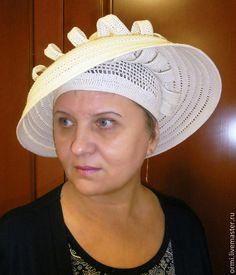 """Шляпы ручной работы. Ярмарка Мастеров - ручная работа. Купить Шляпа """"Клер"""". Handmade. Белый, связано крючком, шляпа летняя"""