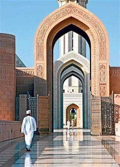 Oman: a grand, savage splendour - Telegraph Heading to Muscat and the Jabal Al Akhdar mountains, Simon Horsford encounters traditional hospitality and astounding scenery Mosque Architecture, Art And Architecture, Ancient Architecture, Islamic World, Islamic Art, Beautiful Mosques, Beautiful Places, Abu Dhabi, Sultan Qaboos Grand Mosque